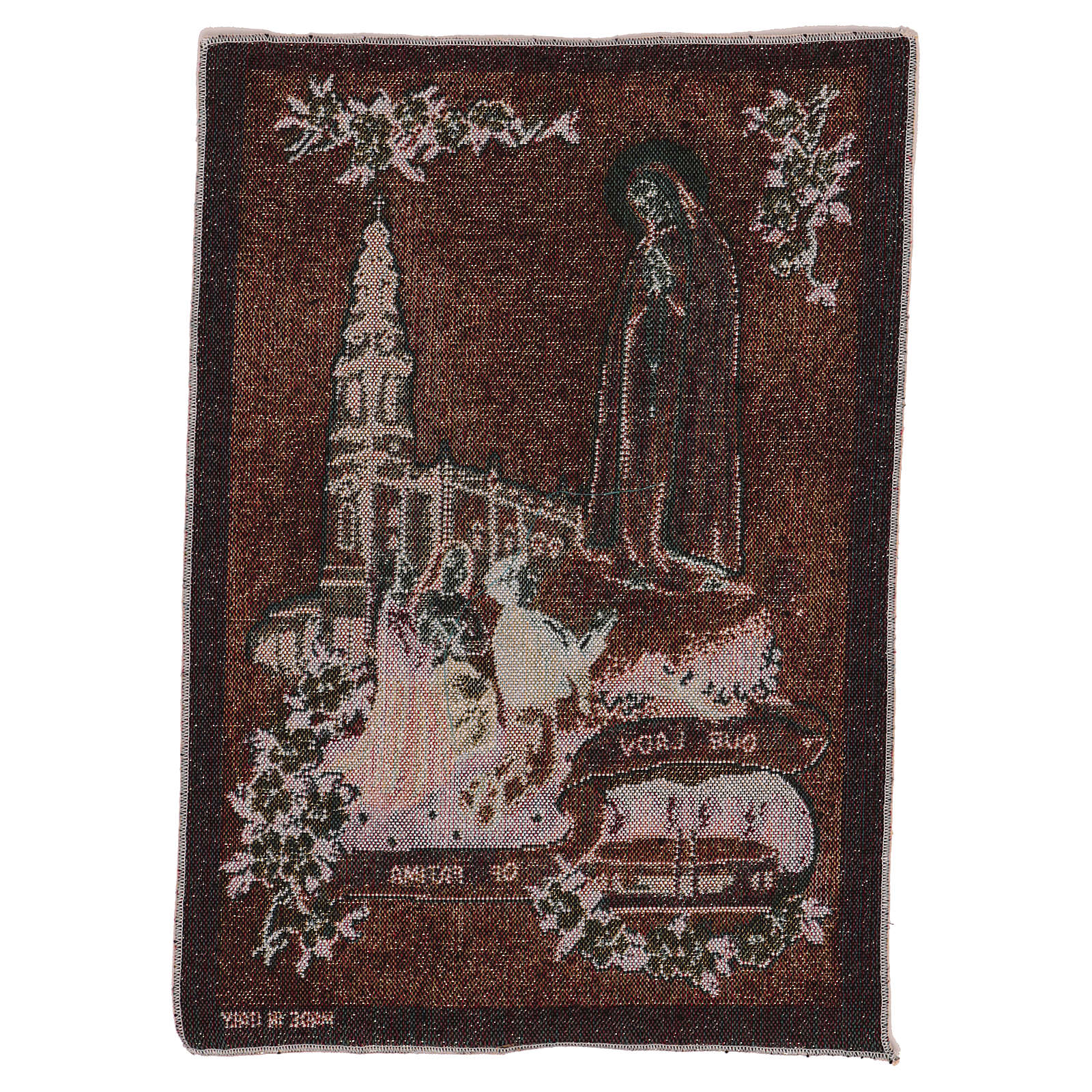 Our Lady of Fatima tapestry 40x30 cm 3