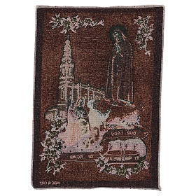 Our Lady of Fatima tapestry 40x30 cm s3
