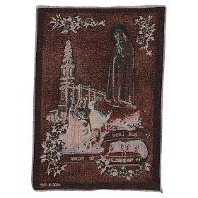 Tapiz Virgen de Fátima 40x30 cm s3