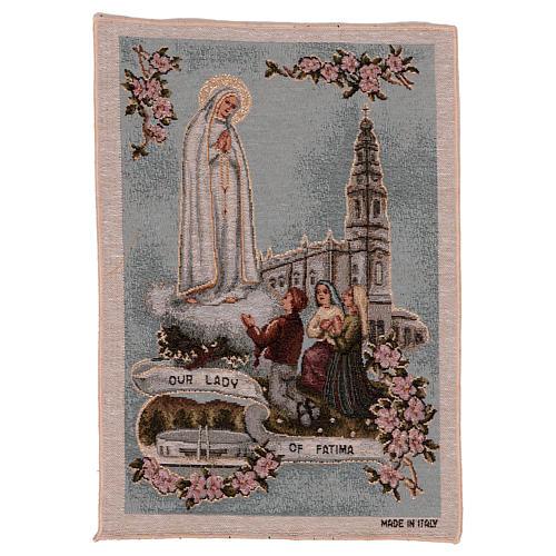 Arazzo Madonna di Fatima 40x30 cm 1