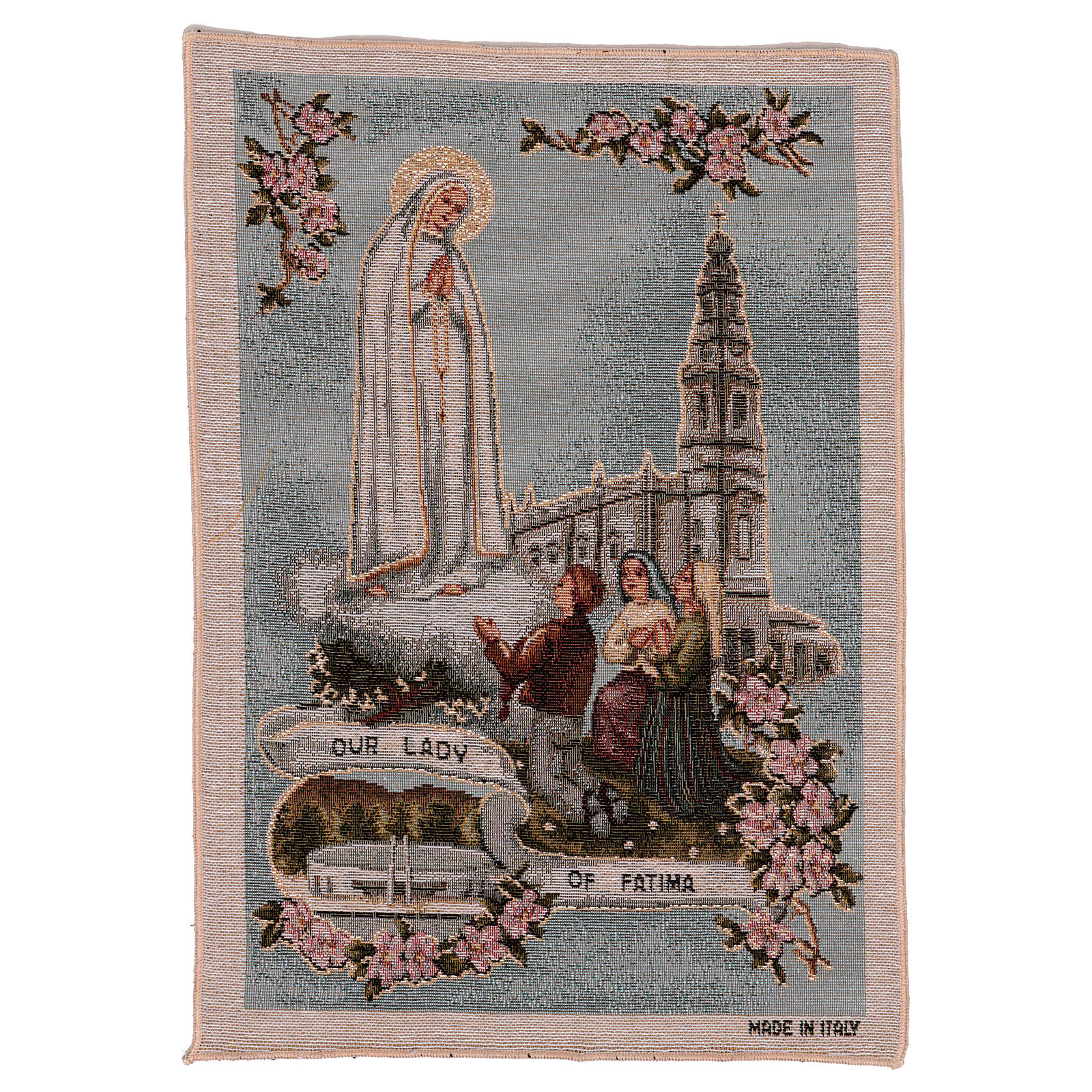 Our Lady of Fatima tapestry 16x12