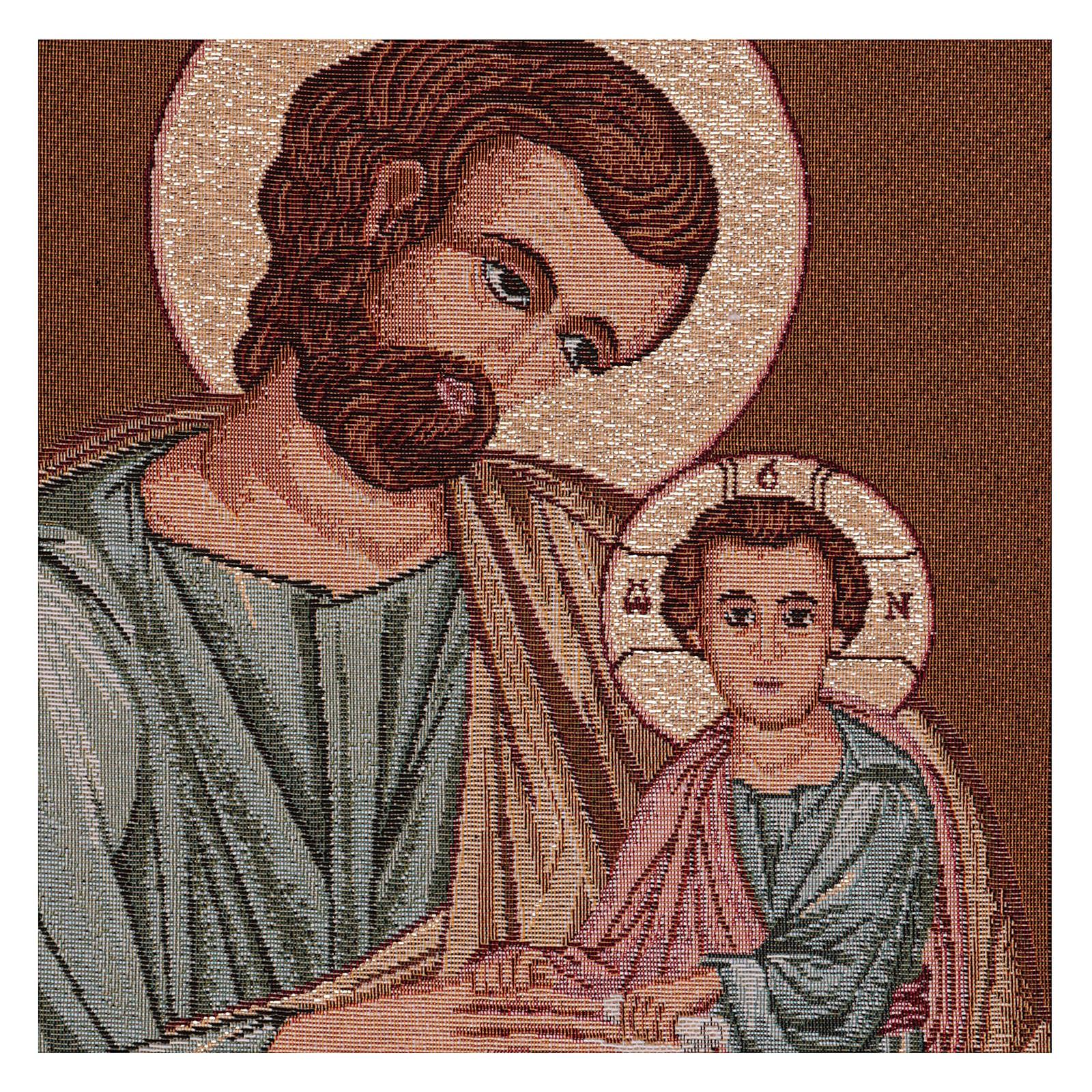 Arazzo San Giuseppe Bizantino cornice ganci 50x40 cm 3