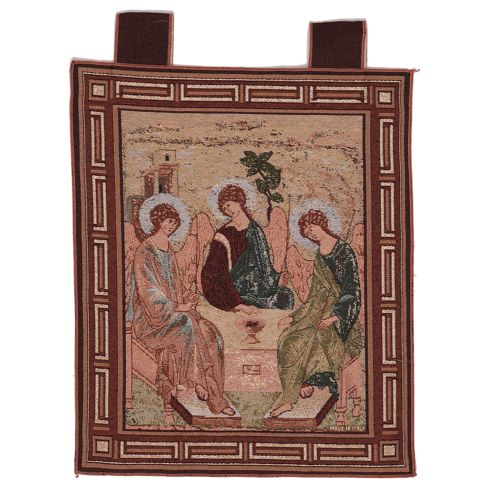 Arazzo Trinità di Rublev cornice ganci 50x40 cm 3