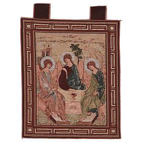 Arazzo Trinità di Rublev cornice ganci 50x40 cm s1