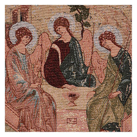 Arazzo Trinità di Rublev cornice ganci 50x40 cm s2