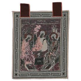 Arazzo Trinità di Rublev cornice ganci 50x40 cm s3