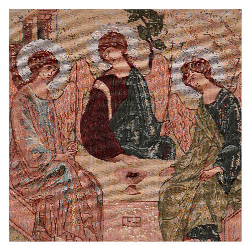Arazzo Trinità di Rublev cornice ganci 50x40 cm 2