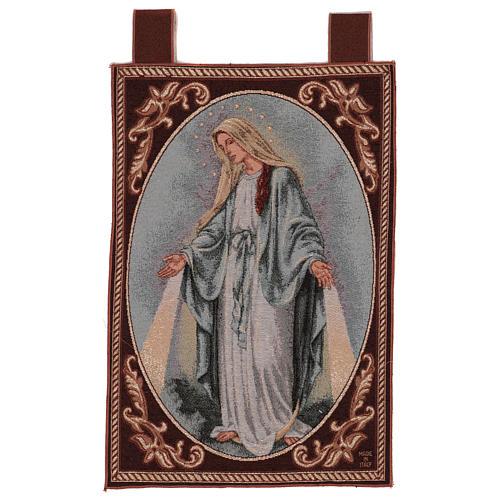 Tapiz Virgen Misericordiosa marco ganchos 50x40 cm 1