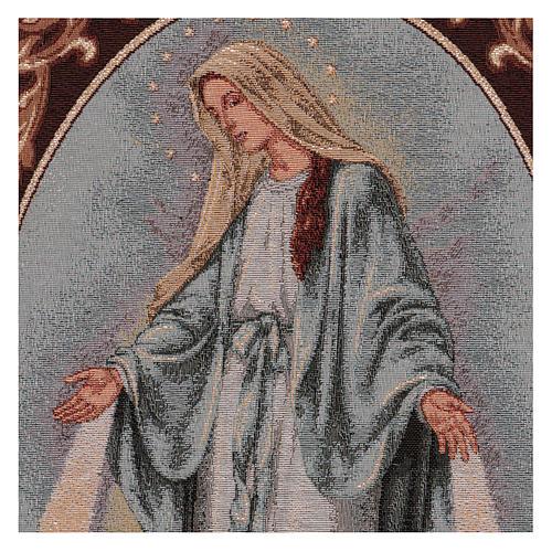 Tapiz Virgen Misericordiosa marco ganchos 50x40 cm 2