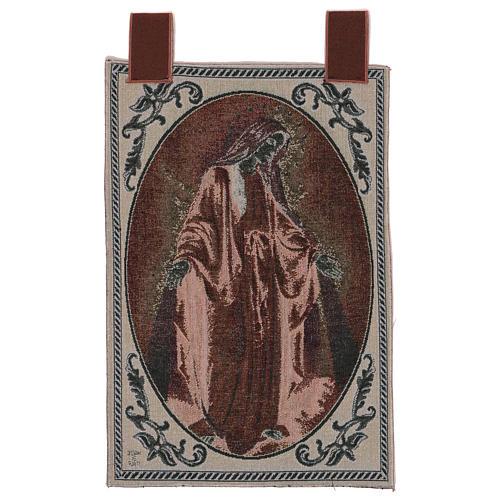 Tapiz Virgen Misericordiosa marco ganchos 50x40 cm 3