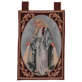 Arazzo Madonna Misericordiosa cornice ganci 55x40 cm s1