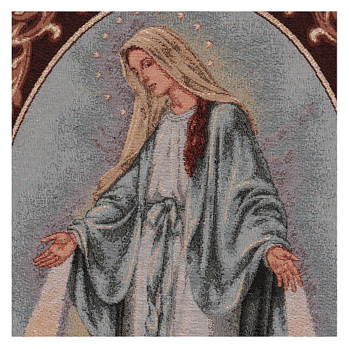 Arazzo Madonna Misericordiosa cornice ganci 55x40 cm 2