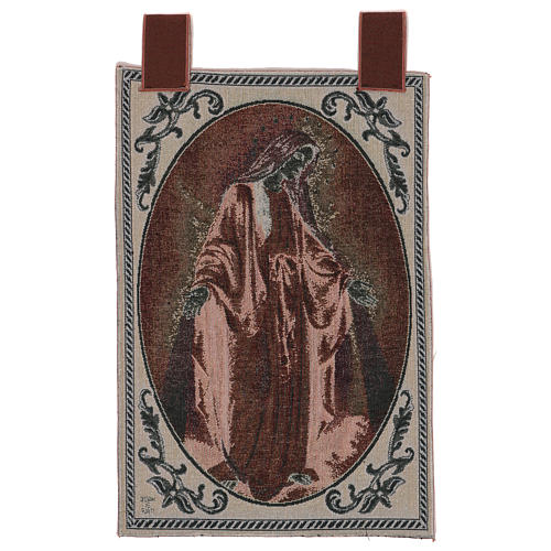 Our Lady of Mercy wall tapestry with loops 22.5x15.5