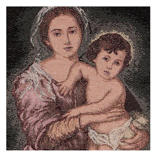 Arazzo Madonna del Murillo 40x30 cm 2