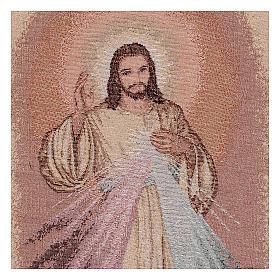 Wandteppich Barmherziger Jesus 50x30 cm s2