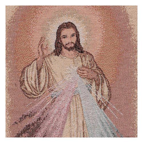 Wandteppich Barmherziger Jesus 50x30 cm 2