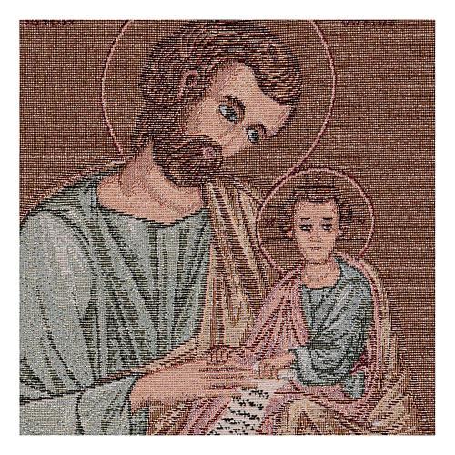 Arazzo San Giuseppe Bizantino 40x30 cm 2