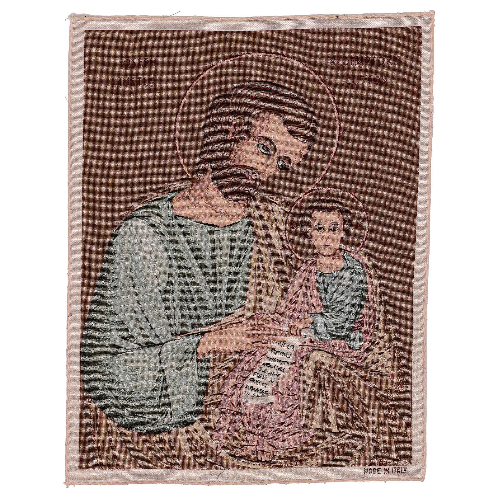 Arazzo San Giuseppe Bizantino 50x40 cm 3