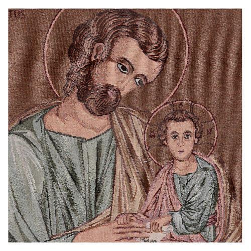 Arazzo San Giuseppe Bizantino 50x40 cm 2