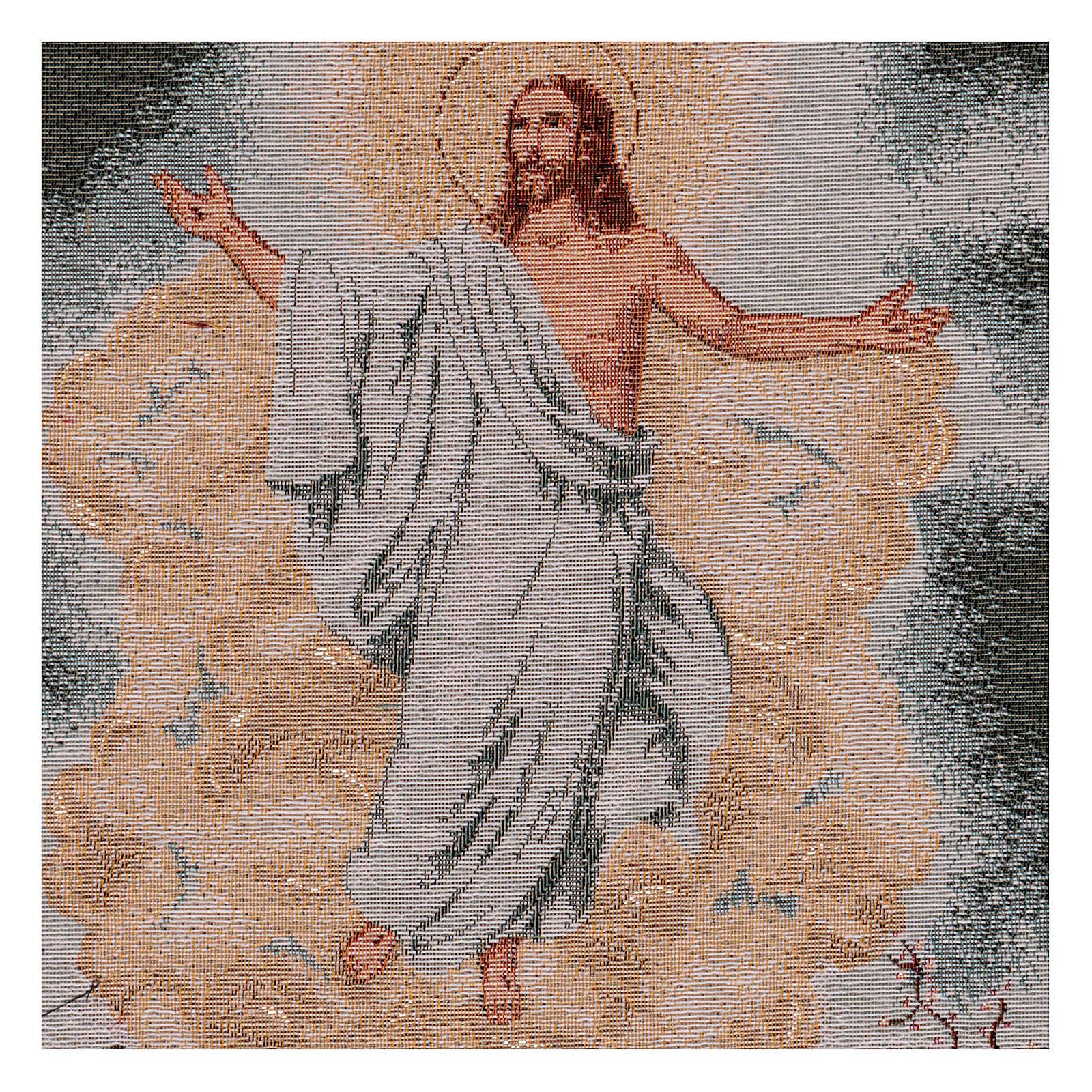 Wandteppich Auferstehung, mit Rahmen und Schlaufen 55x40 cm 3
