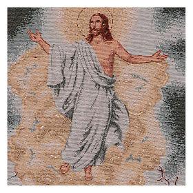 Arazzo Resurrezione cornice ganci 55x40 cm s2
