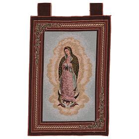 Arazzo Nostra Signora di Guadalupe cornice ganci 60x40 cm s1