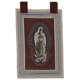 Arazzo Nostra Signora di Guadalupe cornice ganci 60x40 cm s3