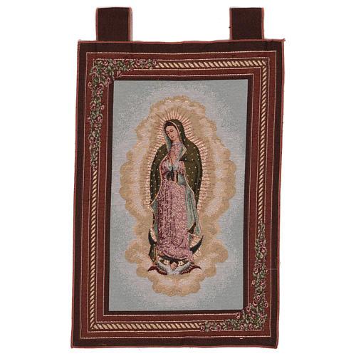 Arazzo Nostra Signora di Guadalupe cornice ganci 60x40 cm 1