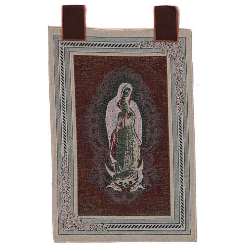 Arazzo Nostra Signora di Guadalupe cornice ganci 60x40 cm 3