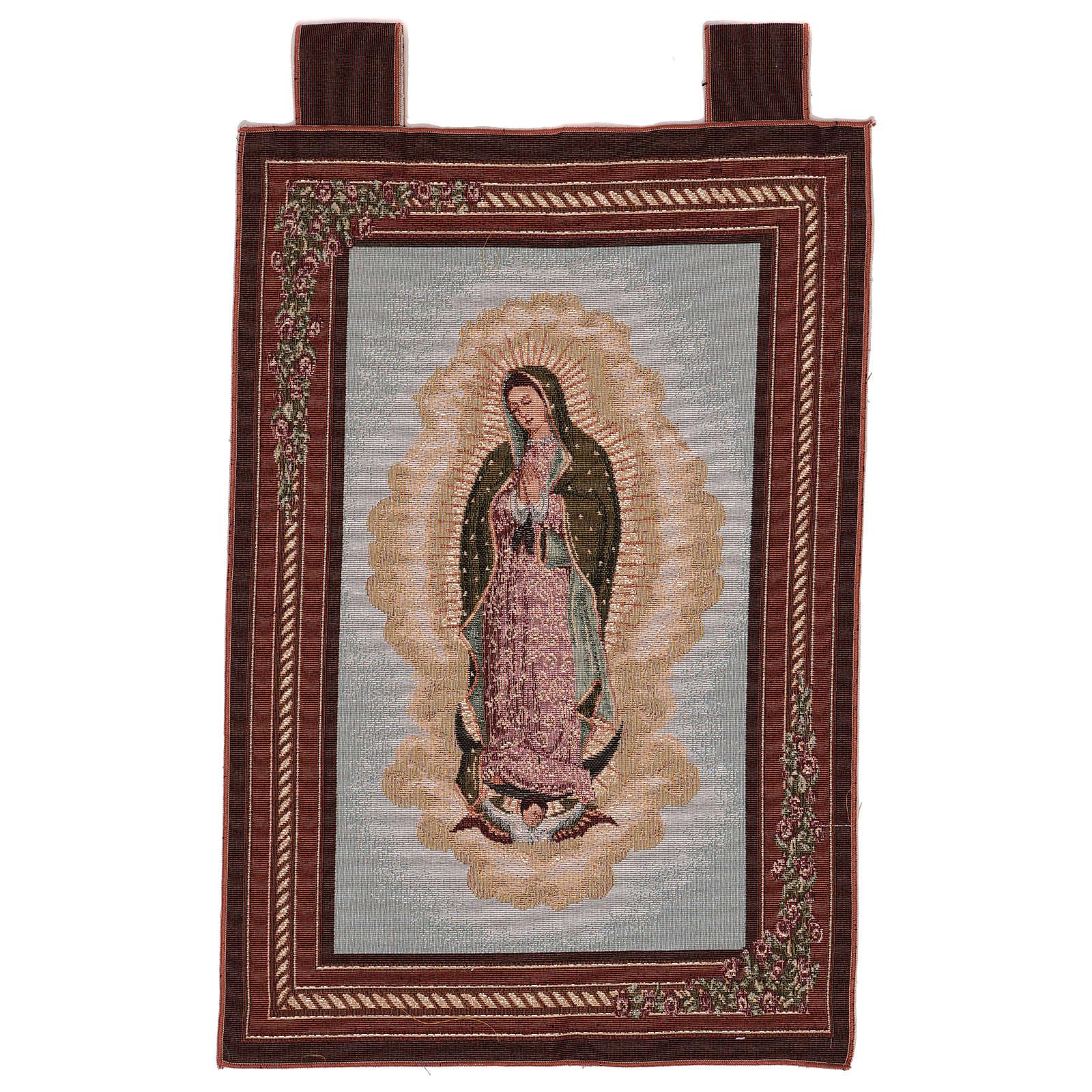 Tapeçaria Nossa Senhora de Guadalupe moldura ganchos 60x40 cm 3