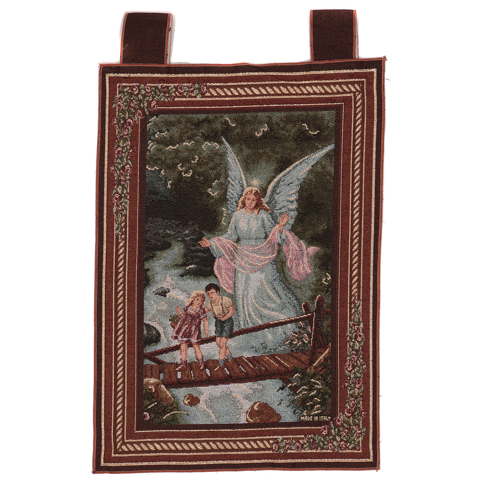 Tapiz Ángel de la Guarda marco ganchos 50x40 cm | venta online en ...