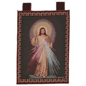 Wandteppich Barmherziger Jesus, mit Rahmen und Schlaufen 55x40 cm s1