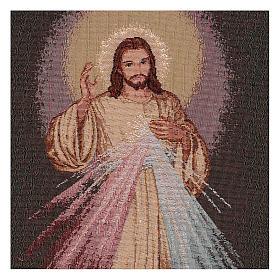 Wandteppich Barmherziger Jesus, mit Rahmen und Schlaufen 55x40 cm s2