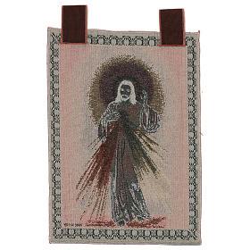 Wandteppich Barmherziger Jesus, mit Rahmen und Schlaufen 55x40 cm s3