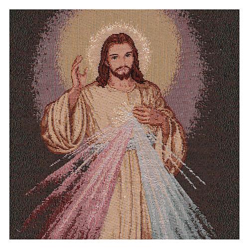 Wandteppich Barmherziger Jesus, mit Rahmen und Schlaufen 55x40 cm 2
