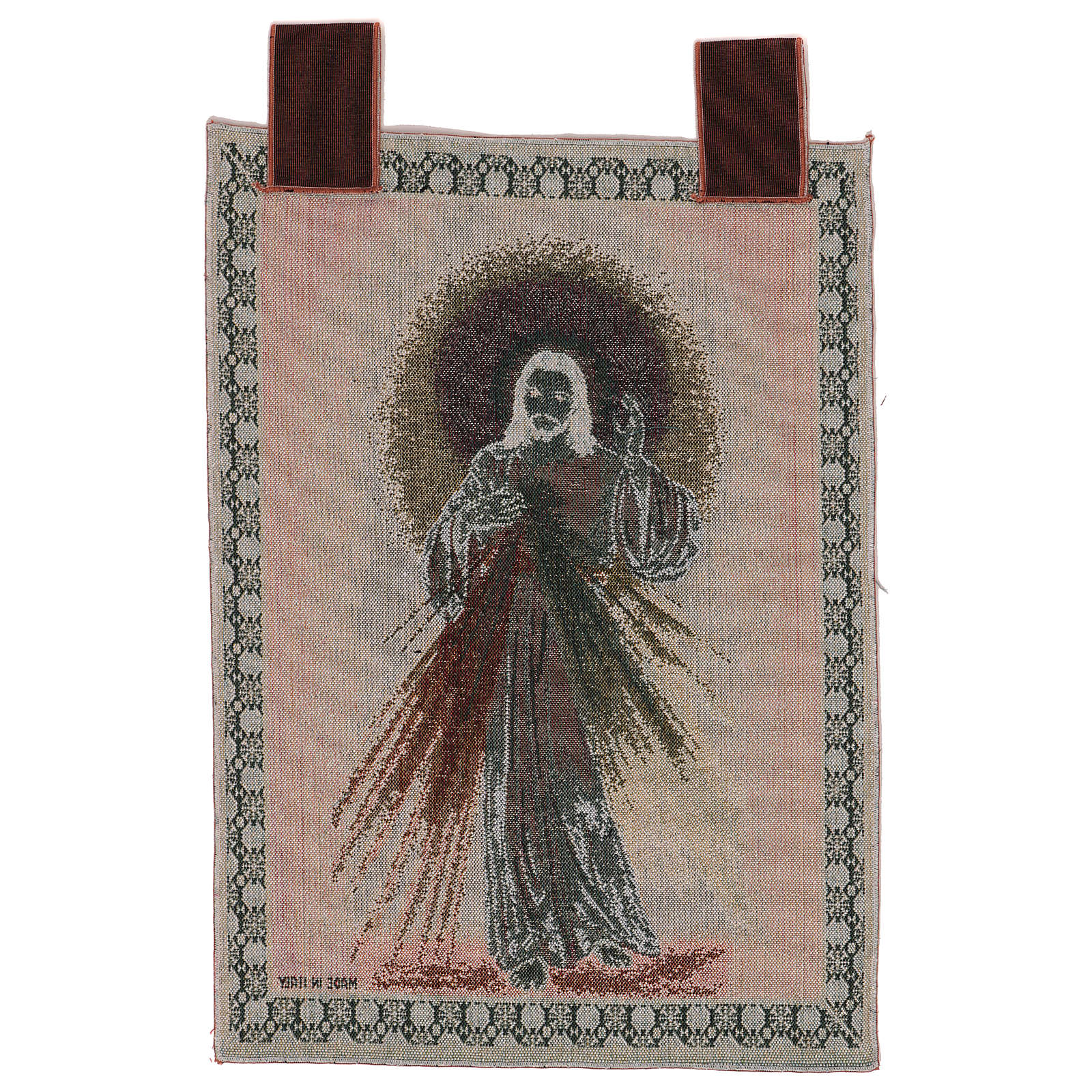 Divine Mercy wall tapestry with loops 22x16