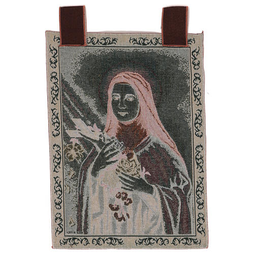 Gobelin Święta Teresa z Lisieux rama uszy 55x40 cm 3