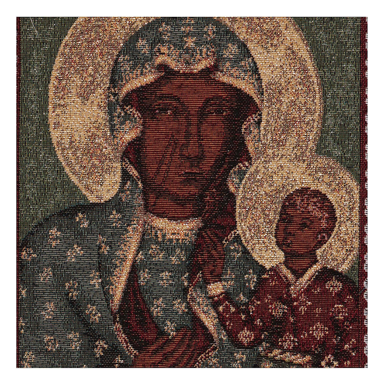 Tapiz Virgen Negra de Czestochowa oro 50x30 cm 3