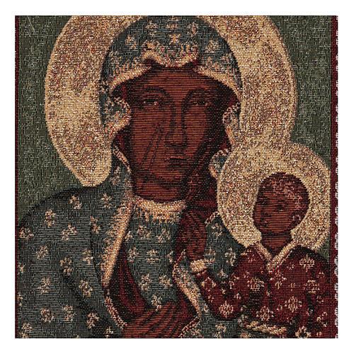 Tapiz Virgen Negra de Czestochowa oro 50x30 cm 2