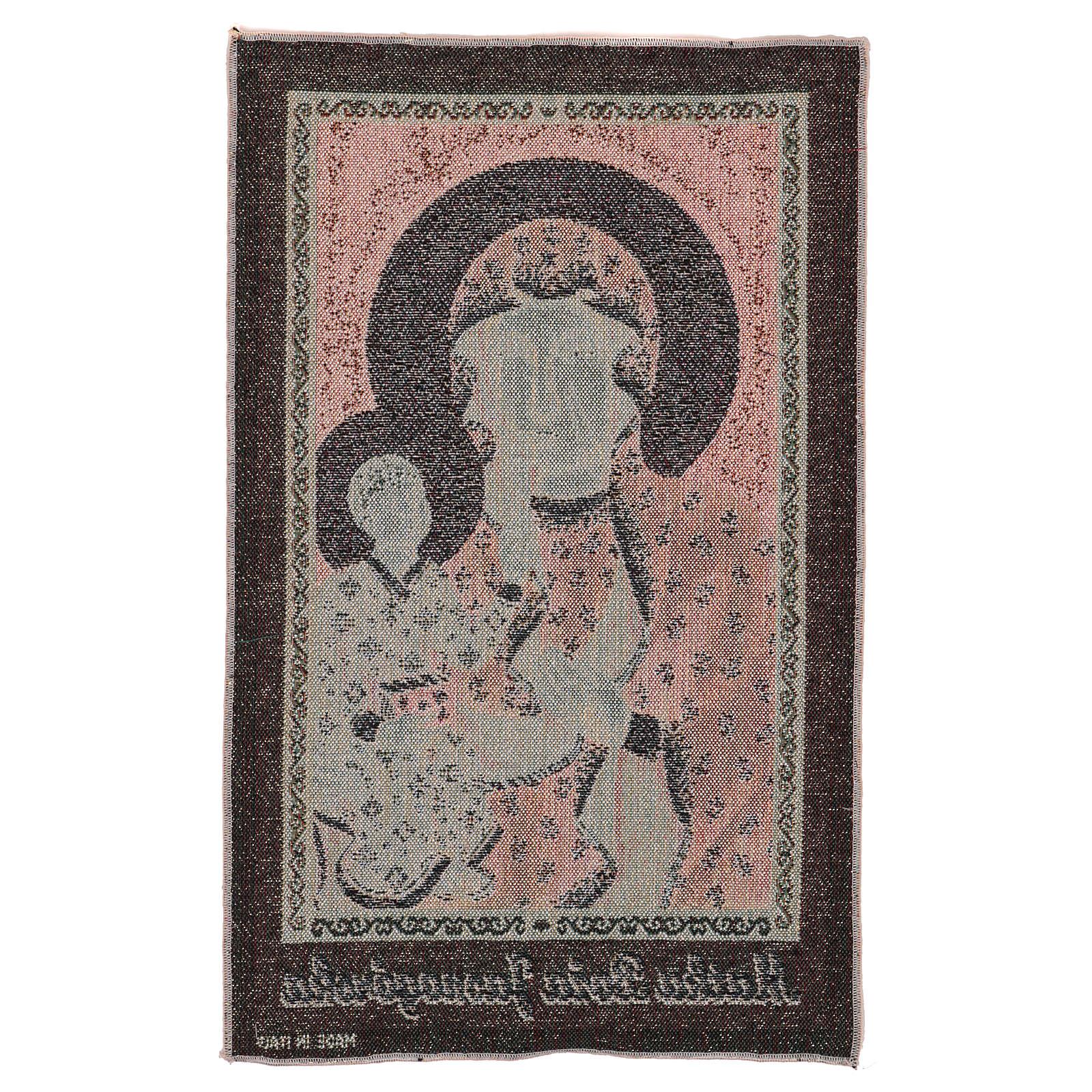 Arazzo Madonna Nera di Czestochowa oro 50x30 cm 3