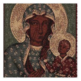 Arazzo Madonna Nera di Czestochowa oro 50x30 cm s2