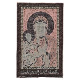 Arazzo Madonna Nera di Czestochowa oro 50x30 cm s3