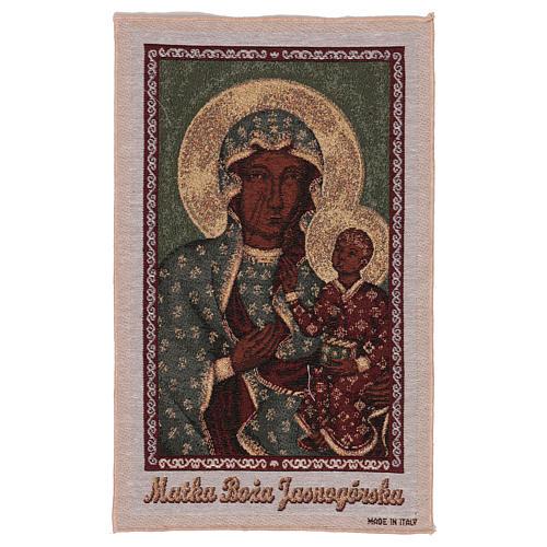 Arazzo Madonna Nera di Czestochowa oro 50x30 cm 1