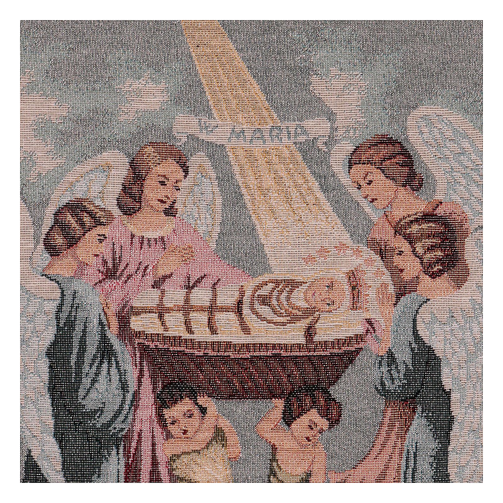 Tapisserie Sainte Vierge Enfant 30X40 cm 3