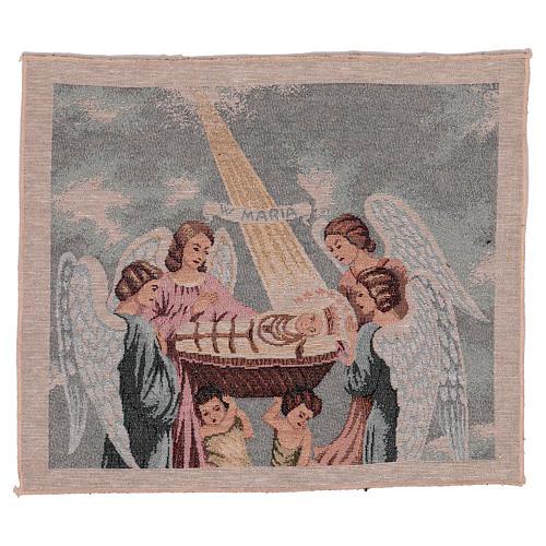 Tapisserie Sainte Vierge Enfant 30X40 cm 1