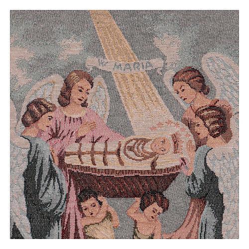 Tapisserie Sainte Vierge Enfant 30X40 cm 2