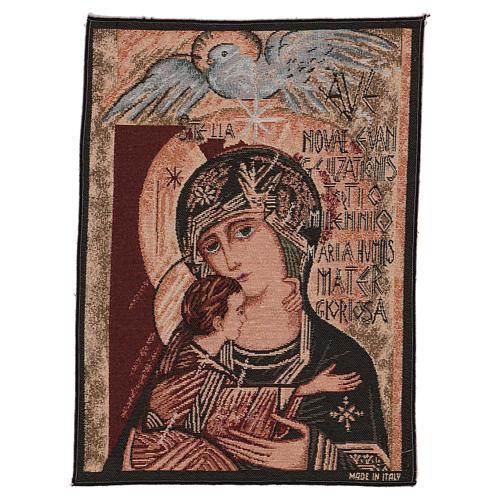 Arazzo Madonna del terzo millennio 40x30 cm 1