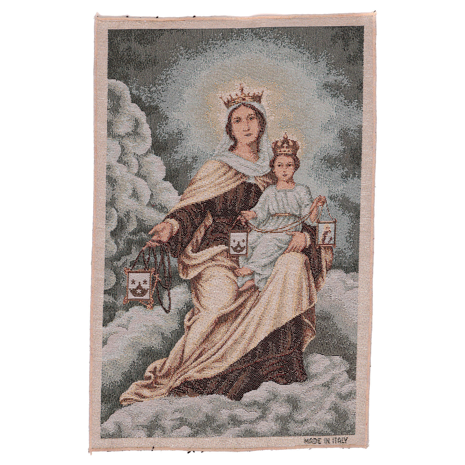 Our Lady of Mount Carmel tapestry 40x30 cm 3