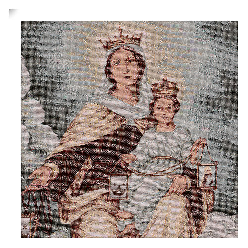 Tapiz Virgen del Monte Carmelo 40x30 cm 2