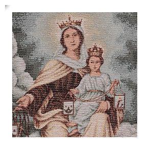 Arazzo Madonna del Monte Carmelo 45x30 cm s2